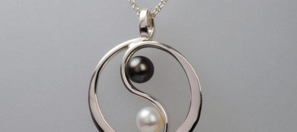 Tom kruskal silver pearl yin yang pendant ja sharp custom tom kruskal silver pearl yin yang pendant aloadofball Images